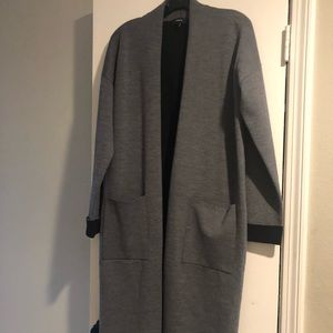 Theory double face wool blend cardigan size M